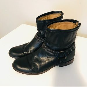 Phillips Leather Studded Harness Frye Boot size 11